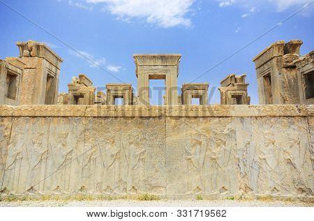 Persepolis.the Capital Of The Ancient Achaemenid Kingdom. Shiraz , Iran. Ancient Persia.
