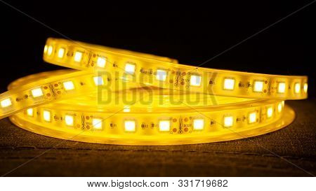Decorative Diode Lighting For Niches.led Strip Light.led Tape Closeup