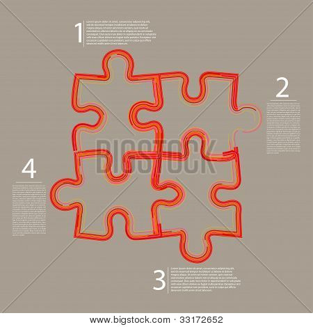Vector Abstract Web Puzzle. Creative Background. Eps 10