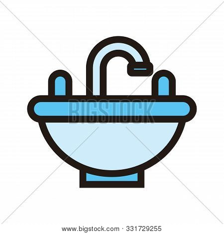 Sink Icon Isolated On White Background From Hotel Collection. Sink Icon Trendy And Modern Sink Symbo
