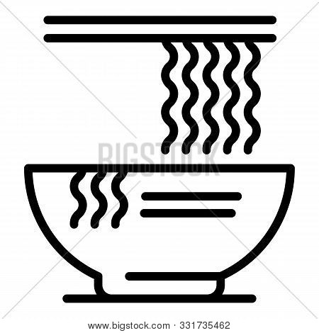 Ramen Noodle Icon. Outline Ramen Noodle Vector Icon For Web Design Isolated On White Background