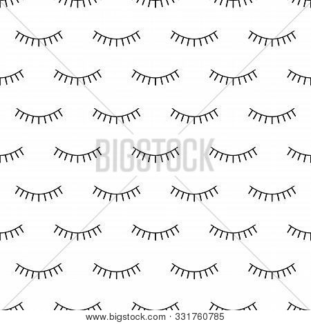 Abstract Seamless Eyes Pattern For Girls, Boys. Creative Vector Pattern With Psychodelic Eyes. Funny