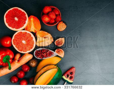 Healthy Fruits And Vegetables Products For Immunity Boosting, Rich In Vitamins And Antioxidants, Car