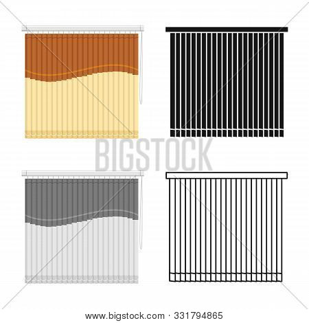 Vector Illustration Of Blinds And Casement Symbol. Graphic Of Blinds And Room Stock Vector Illustrat