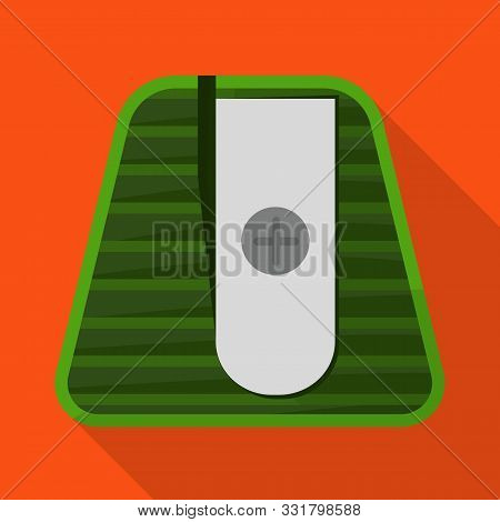Vector Design Of Sharpener And Sharpen Icon. Web Element Of Sharpener And Green Vector Icon For Stoc