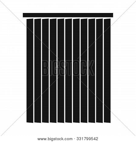 Vector Design Of Blinds And Wooden Symbol. Graphic Of Blinds And Casement Vector Icon For Stock.