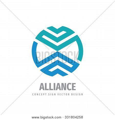 Alliance Business Logo Design. Cooperation Logo. Union Logo.