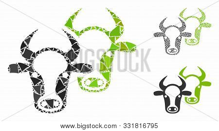Livestock Composition Of Joggly Items In Different Sizes And Color Hues, Based On Livestock Icon. Ve