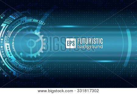 Abstract Technology Background. Futuristic Digital Innovation Background. Hi-tech Communication Conc