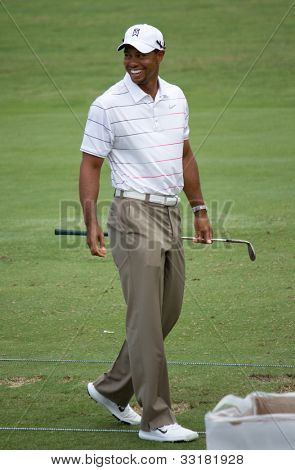 PONTE VEDRA BEACH, FL-MAY 08: Tiger Woods at The Players Championship, PGA Tour, on practice day May 08, 2012 at The TPC Sawgrass, Ponte Vedra Beach, Florida, USA.