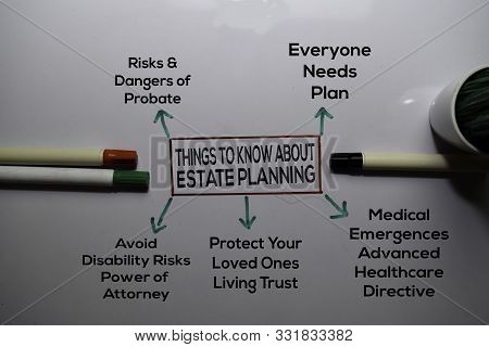Things To Know About Estate Planning Method Text With Keywords Isolated On White Board Background. C