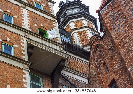 Renaissance Brick Build House Of The Society Of Naturalists With Distinctive Multistorey Oriel And T