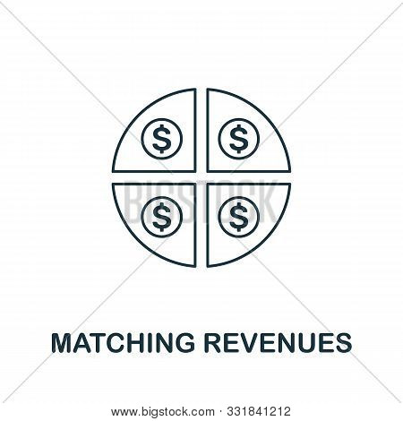 Matching Revenues Icon Outline Style. Thin Line Creative Matching Revenues Icon For Logo, Graphic De