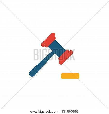 Magistrate Icon. Flat Creative Element From Business Icons Collection. Colored Magistrate Icon For T