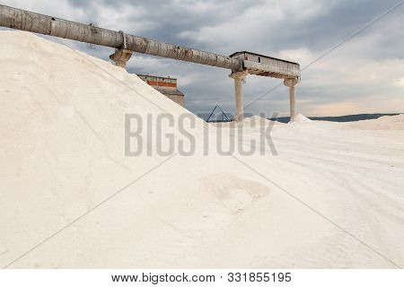 Stone Quarry Construction.gravel Production. Industrial B Ackground