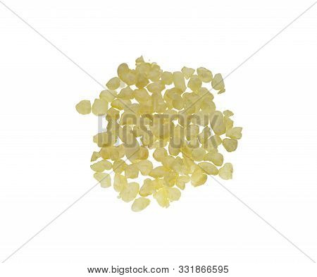 Chios Mastic Tears Isolated On White Background