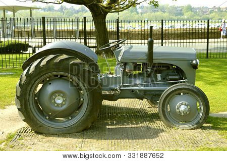 Chester, Cheshire, England, Uk, Europe - April 19, 2019 : Ford Ferguson N-series Tractor Produced Fr
