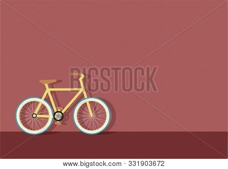 Yellow, Hipster, Bike In Downtown Wall, Sport Stuff