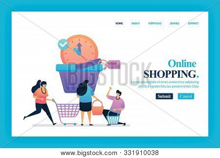 Landing Page Vector Design Of Last Offers Sale. Easy To Edit And Customize. Modern Flat Design Conce