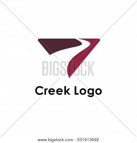 Creek Logo Template, Design Vector Icon Illustration