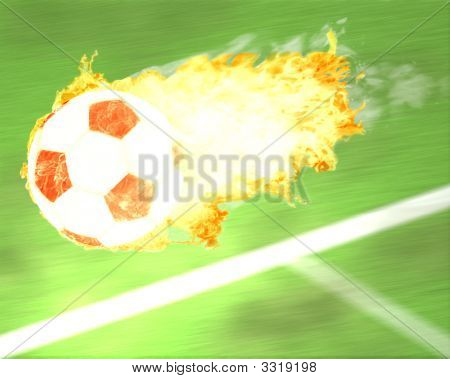 Soccer In Flames