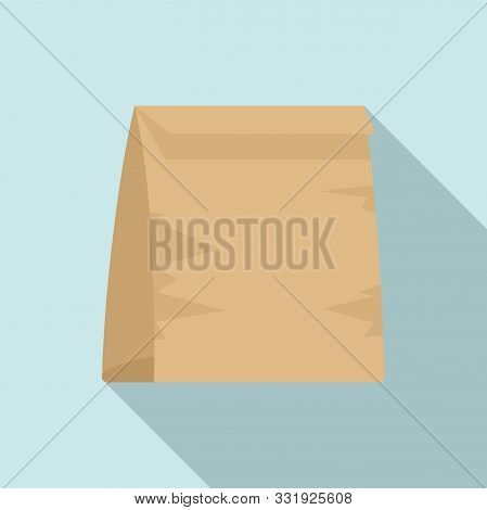 Used Lunch Bag Icon. Flat Illustration Of Used Lunch Bag Vector Icon For Web Design