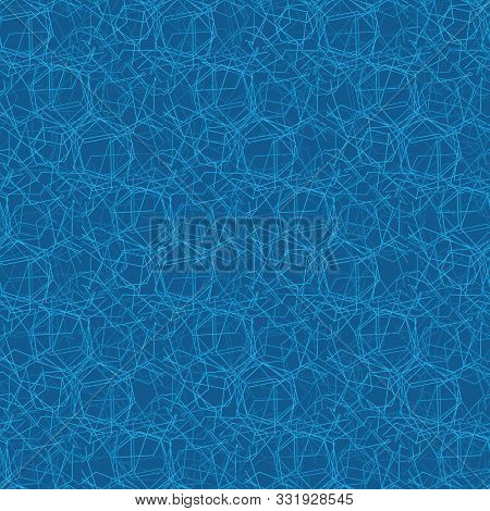 A Seamless Abstract Vector Pattern Ackground With Blue Light Lines Forming Geometric Connetions. Mod