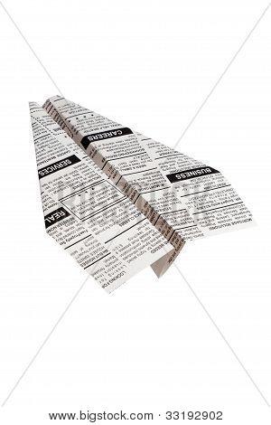 Newspaper Airplane