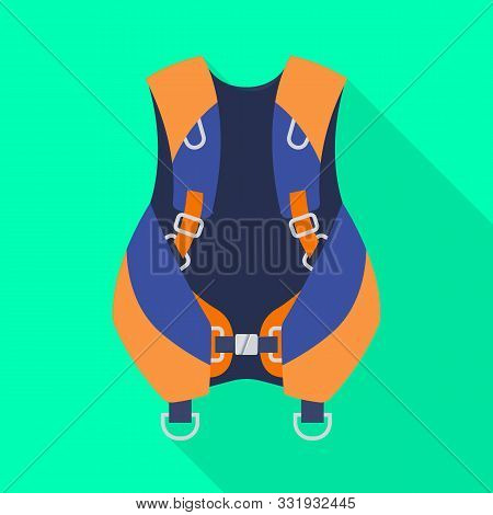 Vector Illustration Of Compensator And Dive Sign. Web Element Of Compensator And Diver Stock Vector