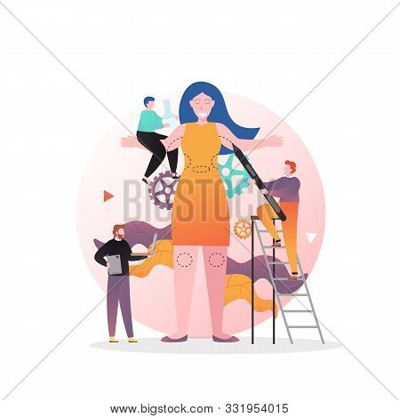 Plastic Surgery Vector Concept For Web Banner, Website Page