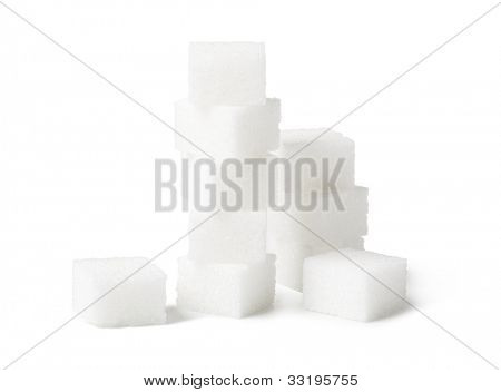 Sugar cube isolated on a white background