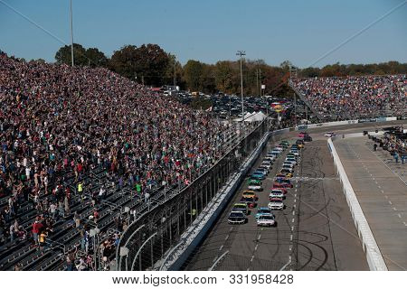 October 27, 2019 - Martinsville, Virginia, USA: Denny Hamlin (11) races for the First Data 500 at Martinsville Speedway in Martinsville, Virginia.