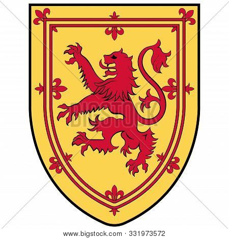 Coat Of Arms Of Nova Scotia Is One Of Canada Three Maritime Provinces, And One Of The Four Provinces