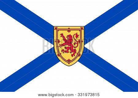 Flag Of Nova Scotia Is One Of Canada Three Maritime Provinces, And One Of The Four Provinces That Fo