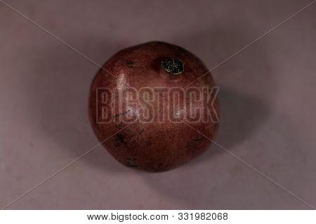 Pomegranate Background Saver Fruit Freshness Food Nutrition Red Fresh Vegetarian Concept Peel