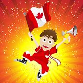 Vector - Canada Sport Fan with Flag and Horn poster