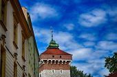 beautiful historic historical Polish city of Krakow on a beautiful sunny summer holiday day t-shirt