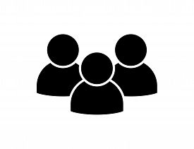 People Icon Isolated Vector Element. Social Network Symbol. People User Person. Partnership Icon. Co