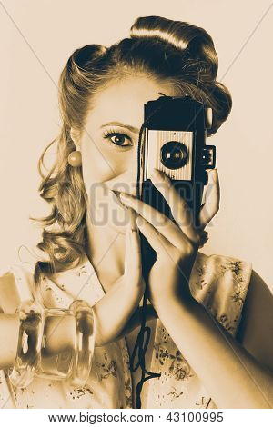 Female Fashion Photographer Taking People Pictures