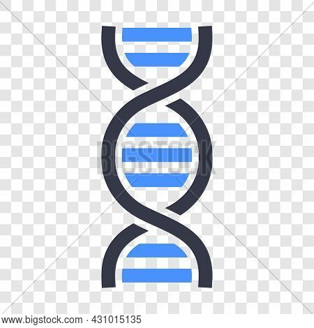 Dna Vector Icon Isolated On Transparent Background. Dna Helix Icon For Design.