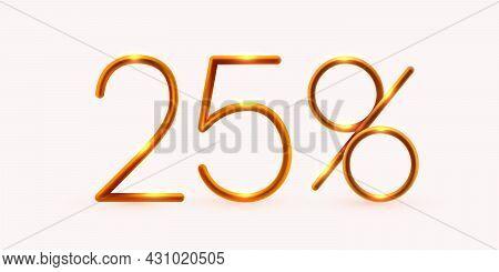 25 Percent Off. Discount Creative Composition. Mega Sale Or 25 Percent Bonus Symbol.