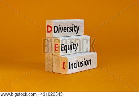 Dei, Diversity, Equity, Inclusion Symbol. Wooden Blocks With Words Dei, Diversity, Equity, Inclusion
