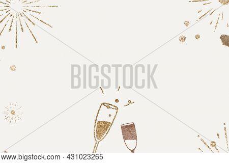Glittery champagne background new year celebration