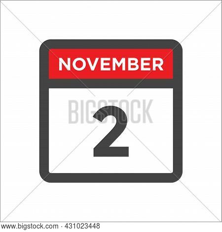November 2 Calendar Icon W Day Of Month