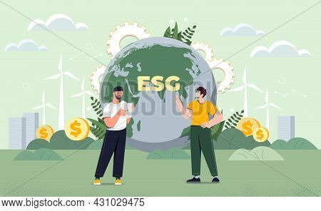 Taking Care Of Environmental Condition Esg. Scientists Have Discovered Alternative Energy Sources. P
