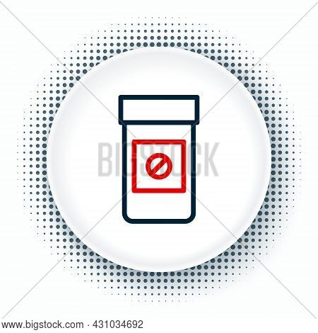 Line Sports Doping, Anabolic Drugs Icon Isolated On White Background. Anabolic Steroids Tablet. Pill