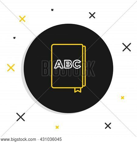 Line Abc Book Icon Isolated On White Background. Dictionary Book Sign. Alphabet Book Icon. Colorful