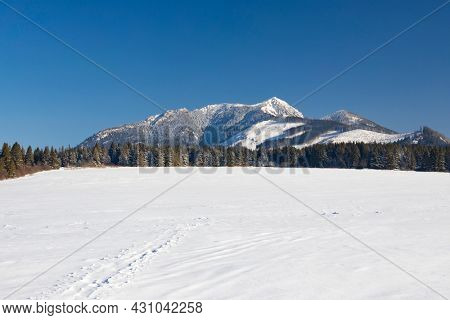 winter landscape nearby Oravice, Western Tatras (Rohace), Slovakia