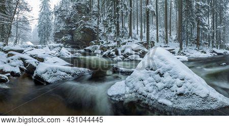 Divoka Orlice river in Zemska brana, Orlicke mountains, Eastern Bohemia, Czech Republic