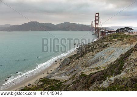 Golden Gate Overlook. San Francisco, California, Usa.